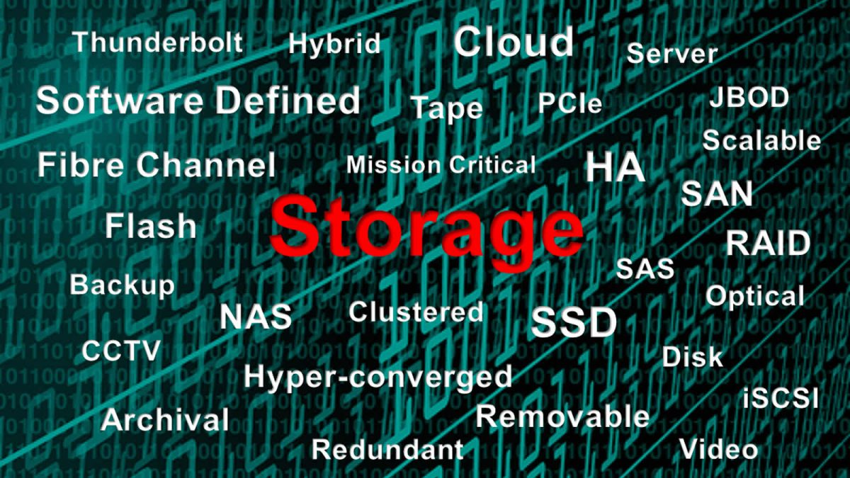 Types of data storage we provide