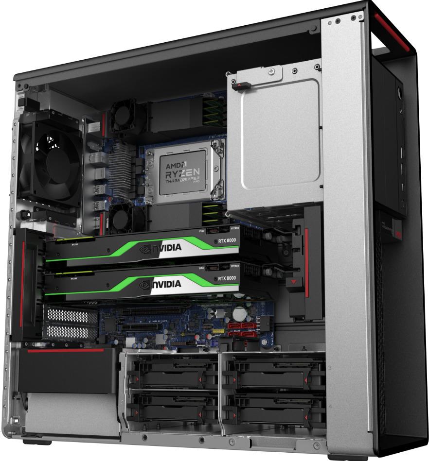 Lenovo ThinkStation P620 open